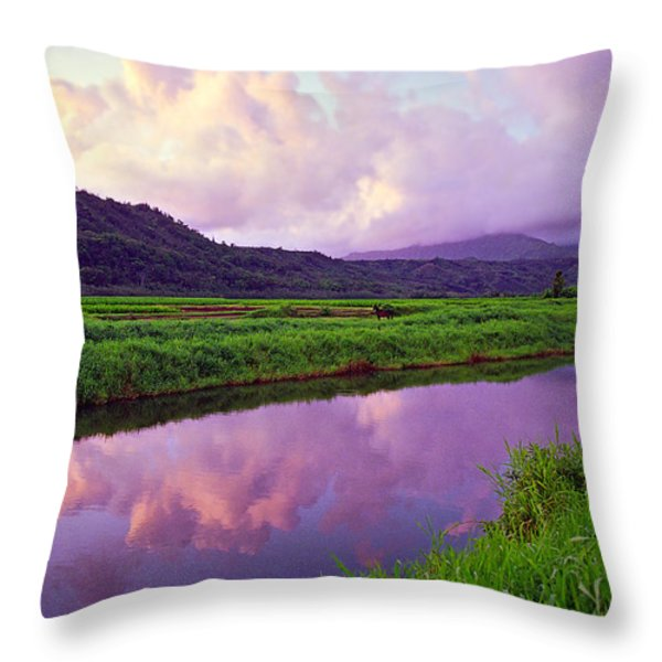 Hanalei Dawn Throw Pillow by Kevin Smith