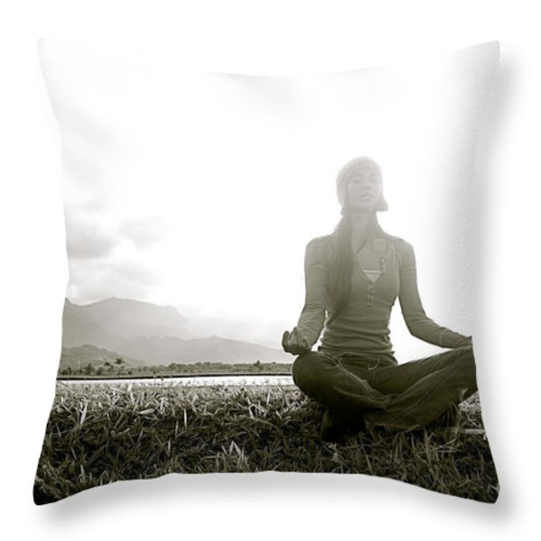 Hanalei Meditation Throw Pillow by Kicka Witte - Printscapes