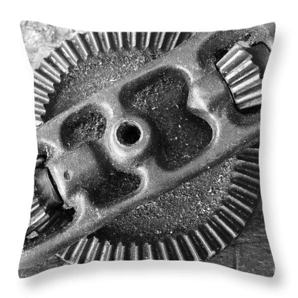 Hand Drill Closeup Throw Pillow by Gaspar Avila