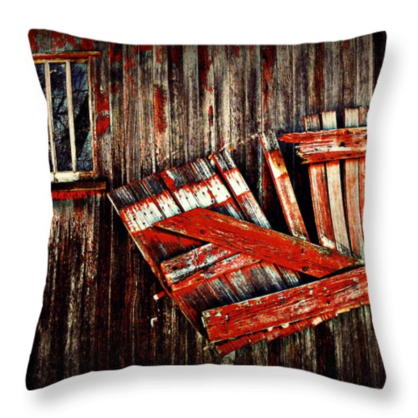 Hanging By A Few Nailss Throw Pillow by Julie Hamilton