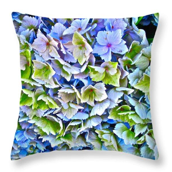 Hanson Hydrangea Throw Pillow by Gwyn Newcombe