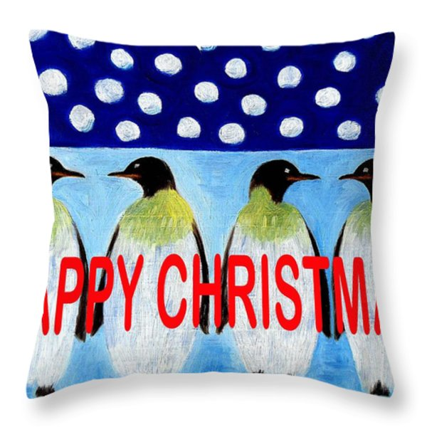 Happy Christmas 24 Throw Pillow by Patrick J Murphy