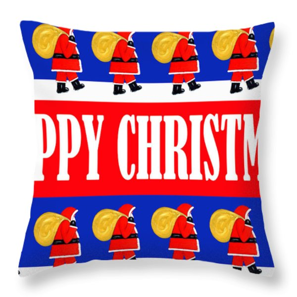 Happy Christmas 26 Throw Pillow by Patrick J Murphy