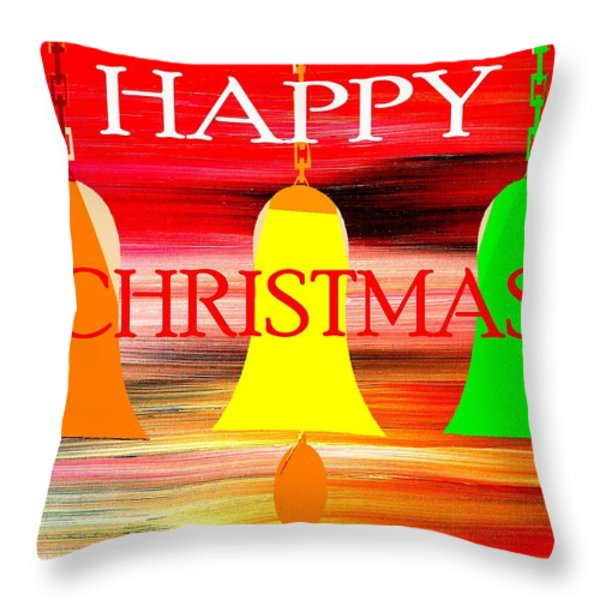 Happy Christmas 27 Throw Pillow by Patrick J Murphy