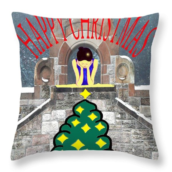 HAPPY CHRISTMAS 31 Throw Pillow by Patrick J Murphy