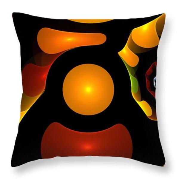Happy Digit Throw Pillow by Stefan Kuhn