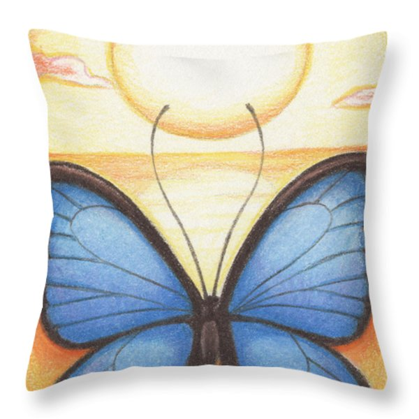 Happy Heart Throw Pillow by Amy S Turner