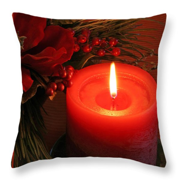 Happy Holidays #1 Throw Pillow by Teresa Zieba