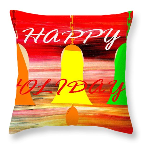 HAPPY HOLIDAYS 11 Throw Pillow by Patrick J Murphy