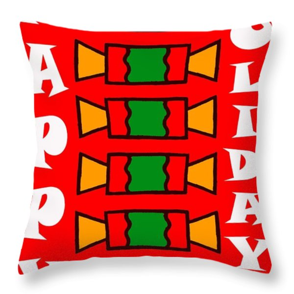 HAPPY HOLIDAYS 7 Throw Pillow by Patrick J Murphy
