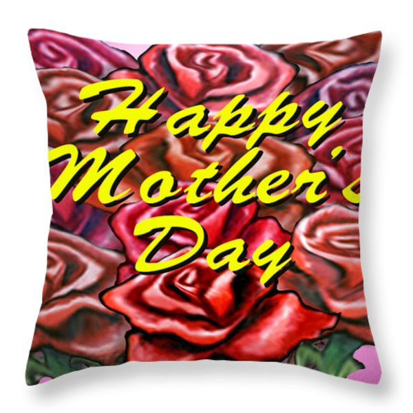 Happy Motherer's Day Throw Pillow by Kevin Middleton