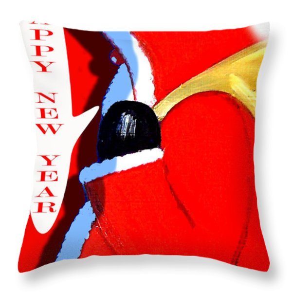 HAPPY NEW YEAR 4 Throw Pillow by Patrick J Murphy
