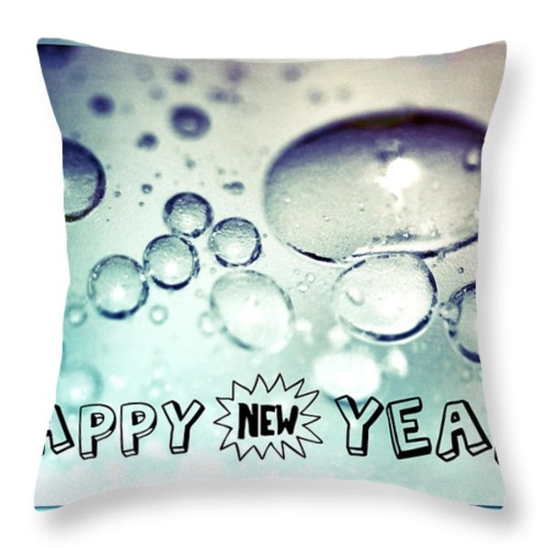 Happy New Years Throw Pillow by Lisa Knechtel