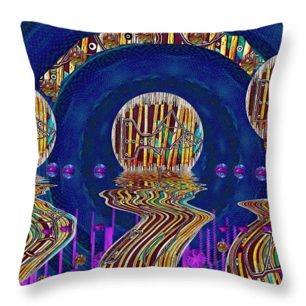 Happy Under The Rainbow Vintage Throw Pillow by Pepita Selles