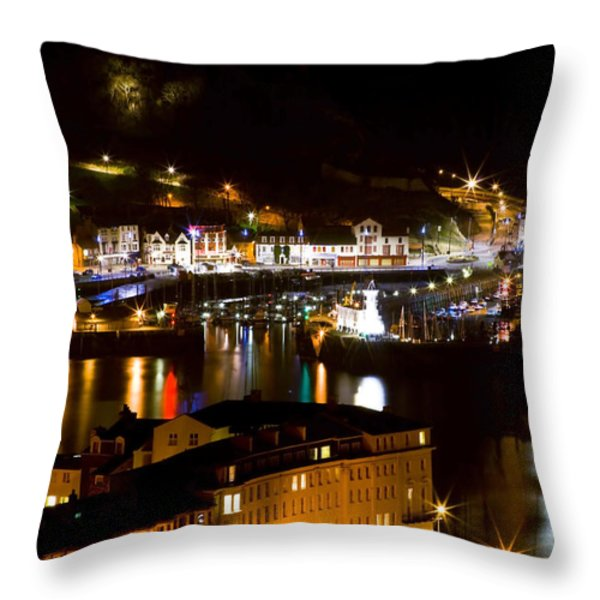 Harbour At Night Throw Pillow by Svetlana Sewell
