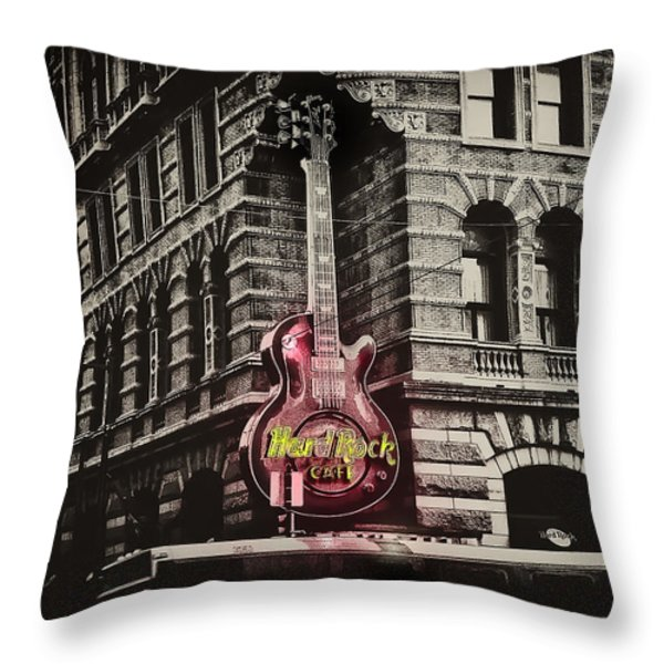 Hard Rock Philly Throw Pillow by Bill Cannon