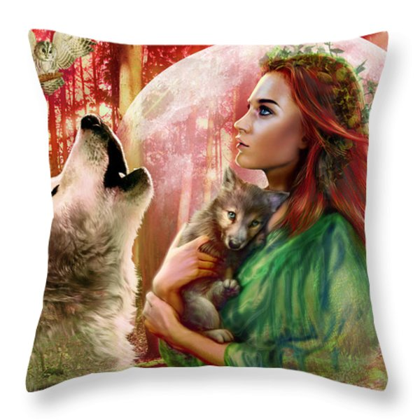 Harest Moon Brethren Variant 2 Throw Pillow by Andrew Farley