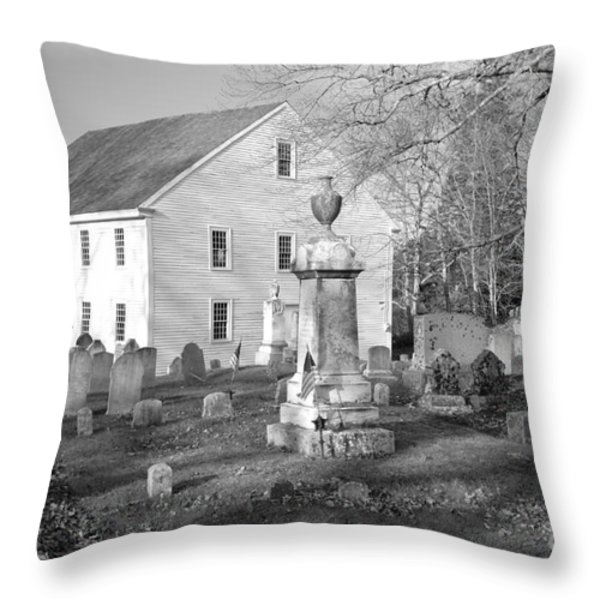 Harrington Meetinghouse -Bristol ME USA Throw Pillow by Erin Paul Donovan