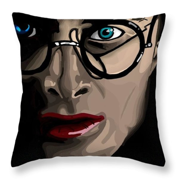 Harry Throw Pillow by Lisa Leeman