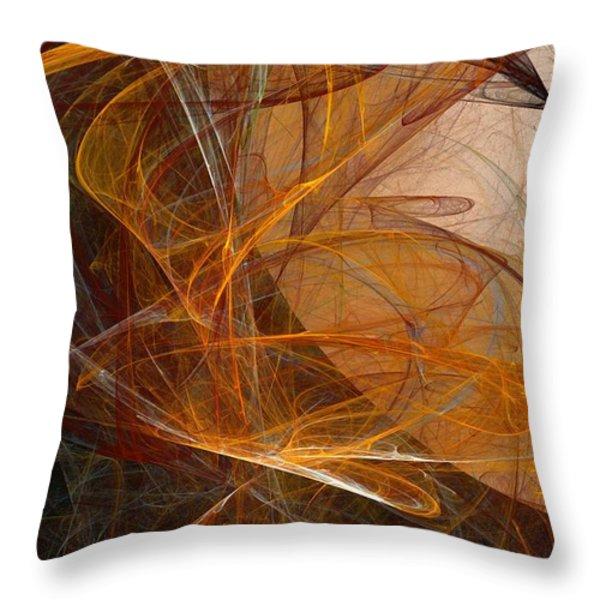 Harvest Moon Throw Pillow by David Lane