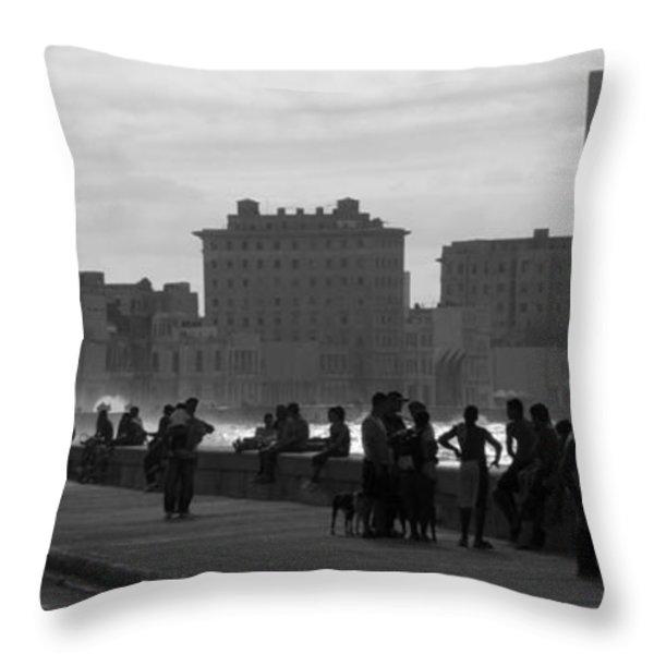 Havana Cuba Throw Pillow by Peter Verdnik