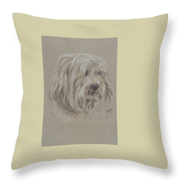 Havanese Throw Pillow by Barbara Keith