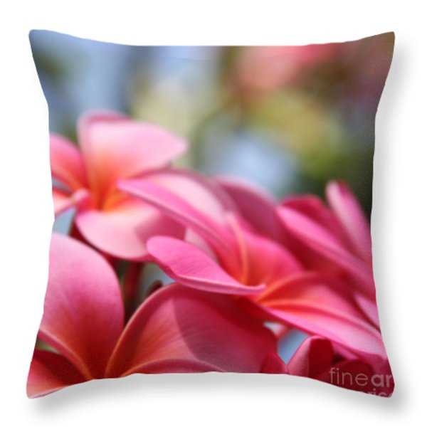 He Pua Lahaole Ulu Wehi Aloha Throw Pillow by Sharon Mau