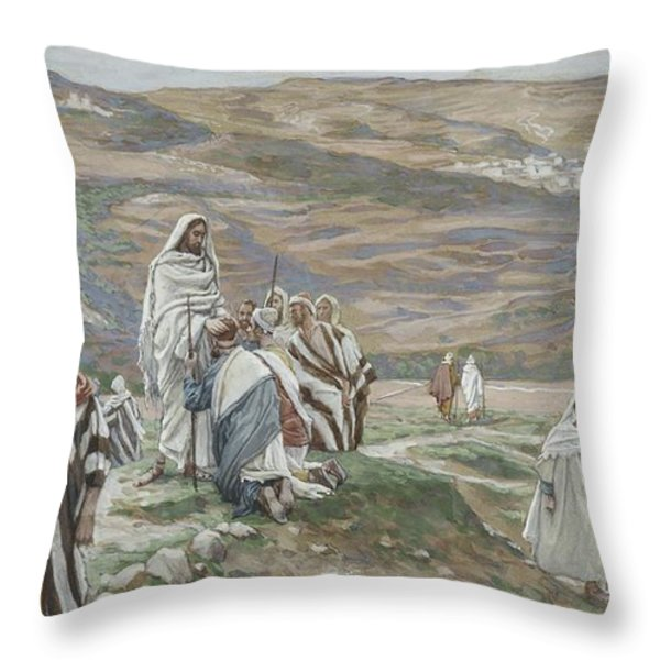 He Sent Them Out Two By Two Throw Pillow by Tissot