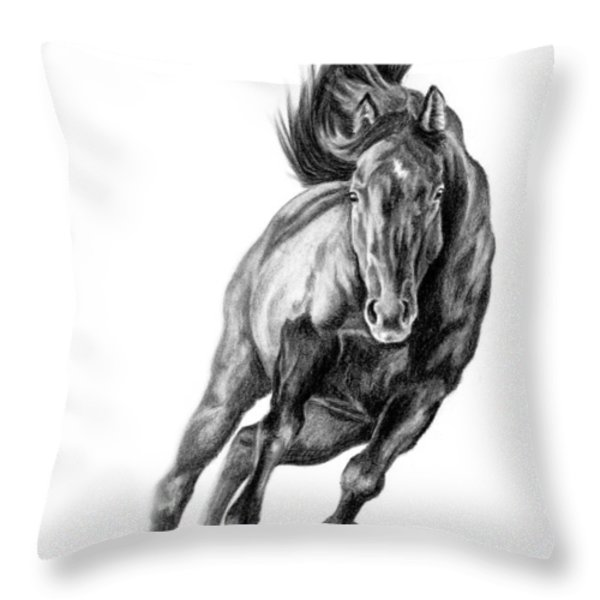 Head On Throw Pillow by Renee Forth-Fukumoto