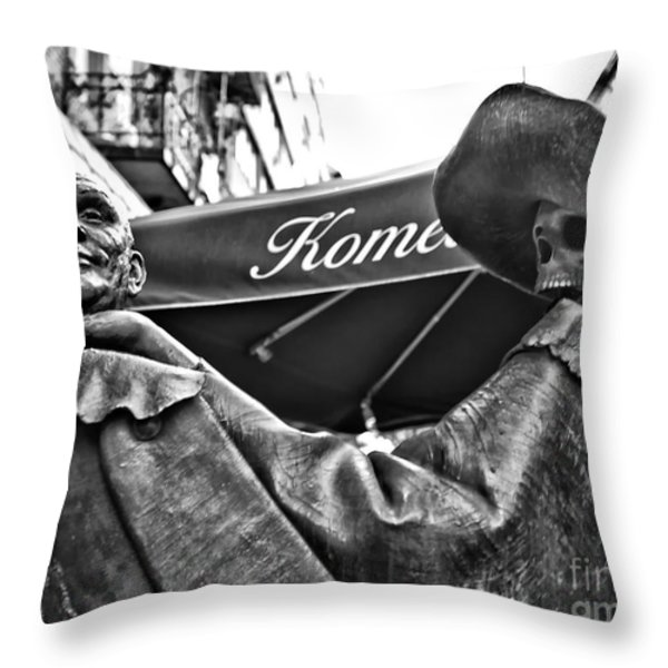 Heads Up Throw Pillow by Madeline Ellis