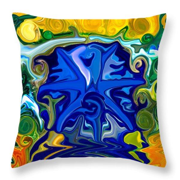 Headwaters Throw Pillow by Omaste Witkowski