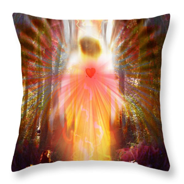 Healer Of The Animals Throw Pillow by Leanne M Williams