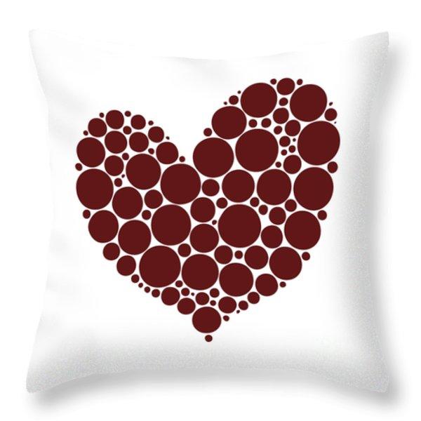 Heart Throw Pillow by Frank Tschakert