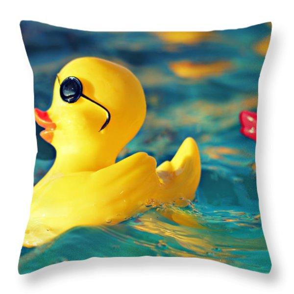 Heartbreaker Throw Pillow by Amy Tyler