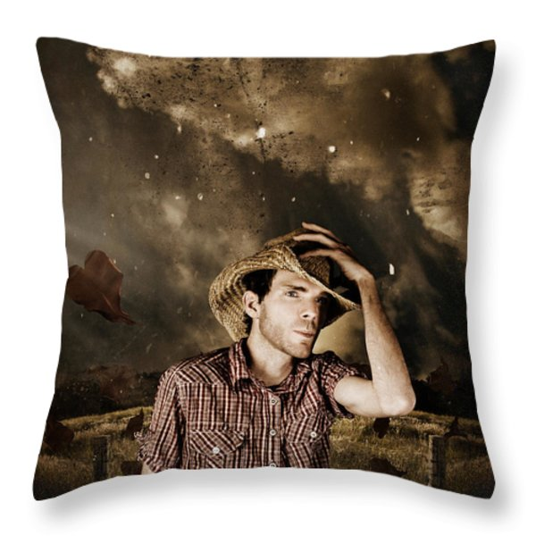 Heartland Of Outback Country Australia Throw Pillow by Ryan Jorgensen