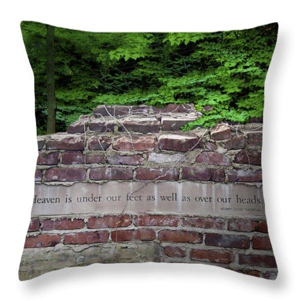Heaven Under Our Feet Wall Throw Pillow by Tom Mc Nemar