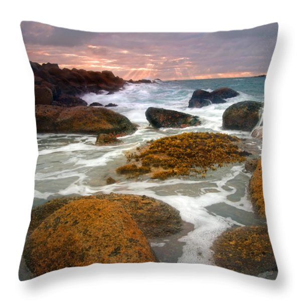 Heavenly Dawning Throw Pillow by Mike  Dawson