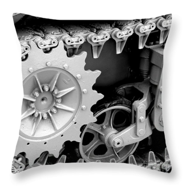 Heavy Metal in Gray Throw Pillow by Valerie Fuqua