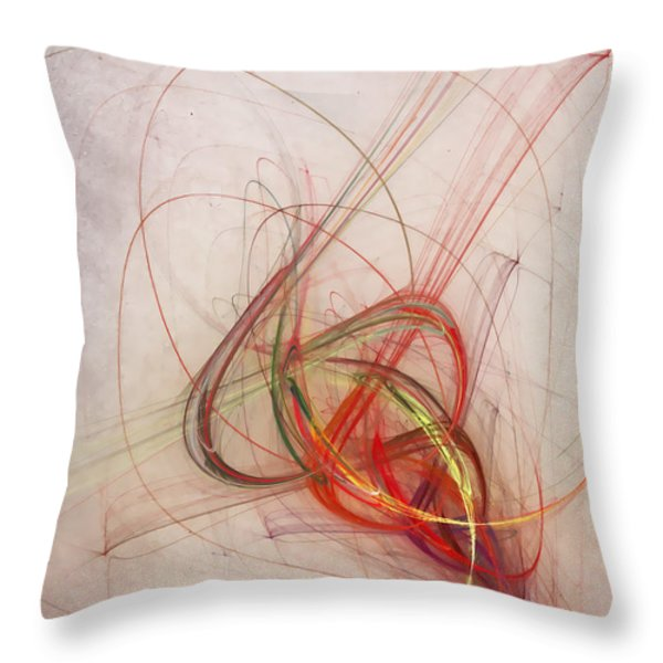 helix Throw Pillow by Scott Norris