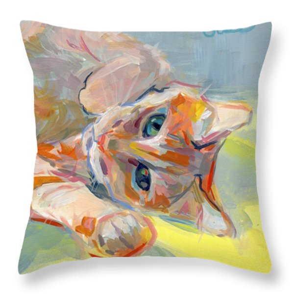 Hello Kitty Throw Pillow by Kimberly Santini