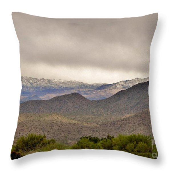 Here Comes The Sun Throw Pillow by Marilyn Smith