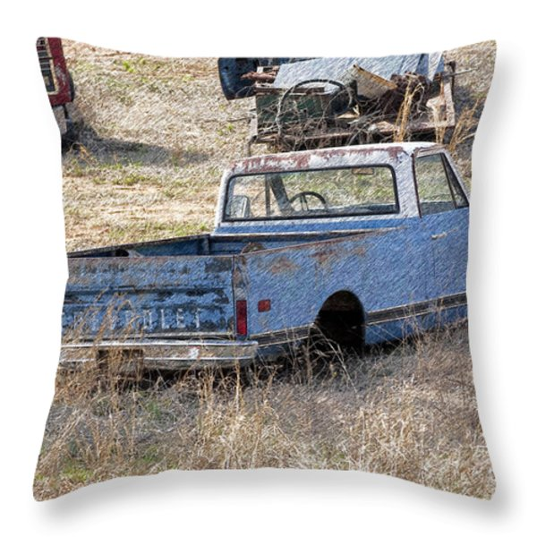 Hey Mack Gotta Light Throw Pillow by Gary Adkins