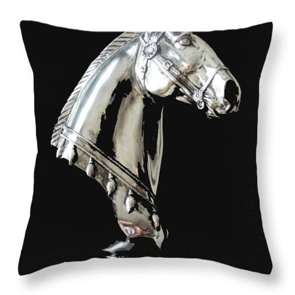 Hi Ho Silver Throw Pillow by Al Bourassa