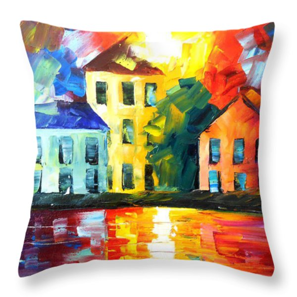 Hidden Harbor Throw Pillow by Jessilyn Park
