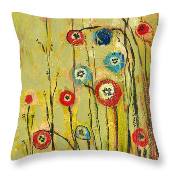 Hidden Poppies Throw Pillow by Jennifer Lommers