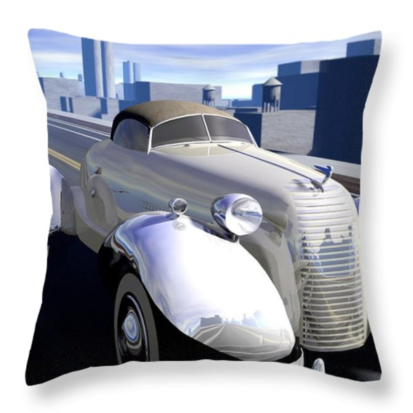 Highway Throw Pillow by Cynthia Decker