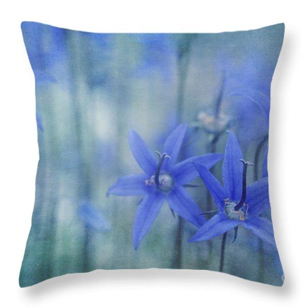 Hillside Blues Throw Pillow by Priska Wettstein