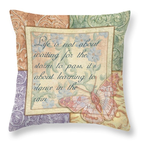 hint of spring butterfly 2 Throw Pillow by Debbie DeWitt