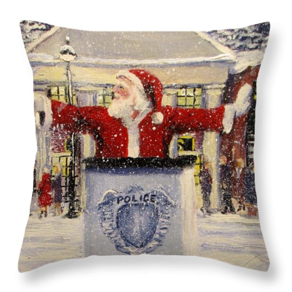 HO HO GO... Throw Pillow by Jack Skinner