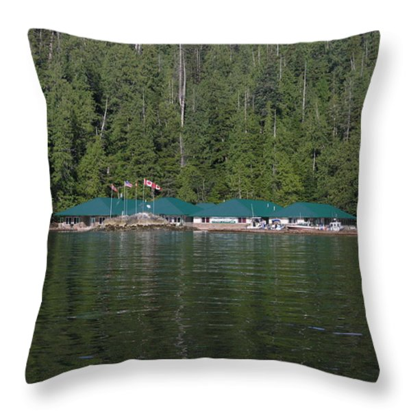 Hoiss Point Lodge #2 Throw Pillow by Nootka Sound